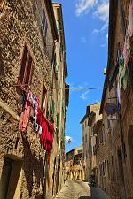 slides/IMG_4030H_1.jpg Italy, Tuscany, Volterra, village, medieval, tower, architecture, street, laundry, history, sky, cloud, HDR IVC20 - Volterra - Tuscany - Italy